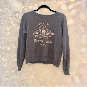 BILLABONG • beach lover gypsy soul sweatshirt